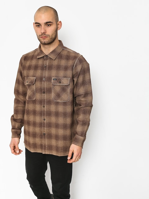 Brixton Archie Ls Shirt (cream/brown)