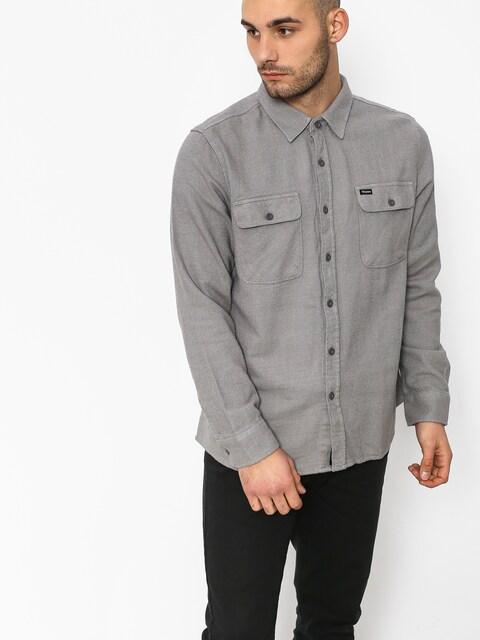 Brixton Bowery Solid Ls Shirt (grey)