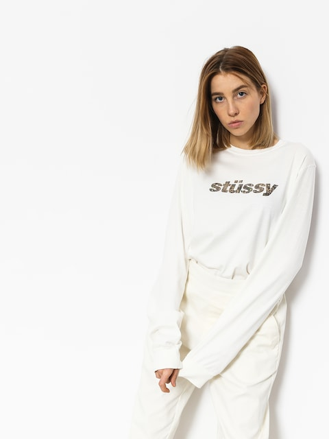 Stussy Longsleeve Como Italic Pig Dyed Ls Tee Wmn (natural)