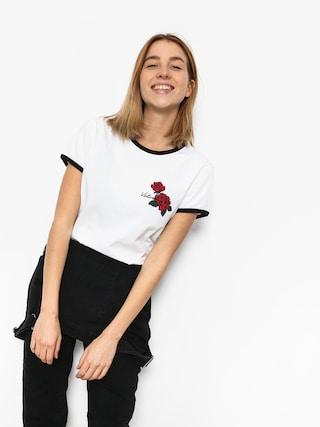 Volcom T-Shirt Keep Goin Ringer Wmn (wht)