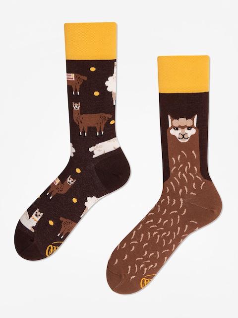 Many Mornings Fluffy Alpaca Socks (brown)