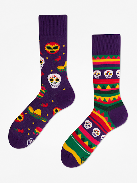 Many Mornings Fiesta Mexicana Socks (violet)