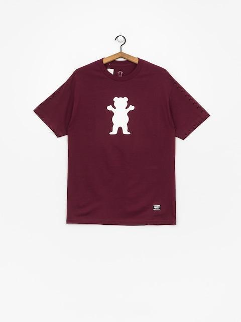 Grizzly Griptape Og Bear Basic Tee T-shirt (burgund)