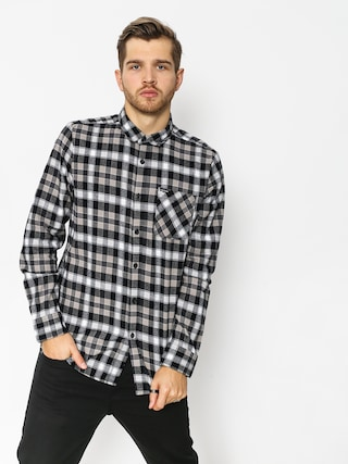 Volcom Caden Plaid Shirt (blk)