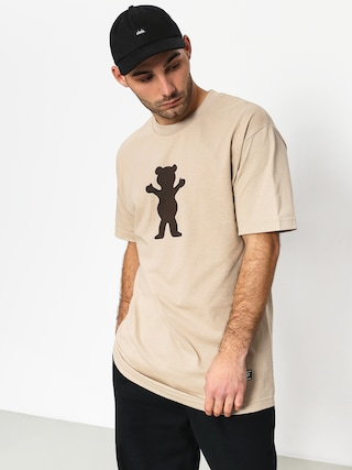 Grizzly Griptape Og Bear Basic Tee T-shirt (sand)