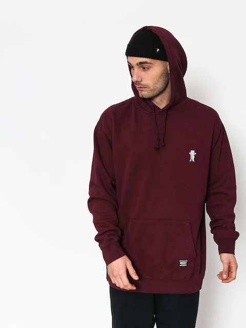 Grizzly Griptape Og Bear Embroidered HD Hoodie (burgund)