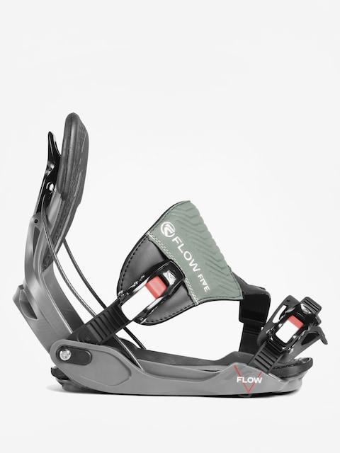 Flow Five Hybrid Snowboard bindings (space grey)