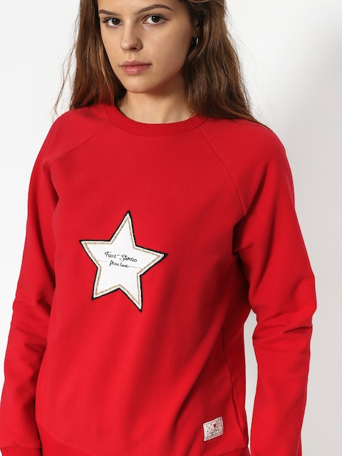 Femi Stories Clip Sweatshirt Wmn (red)