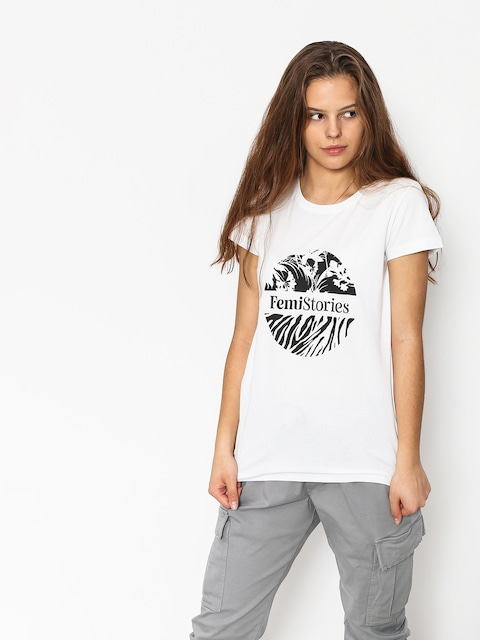 Femi Stories Tulip T-shirt Wmn (wht)