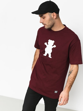 Grizzly Griptape Og Bear Basic Tee T-shirt (burgund)