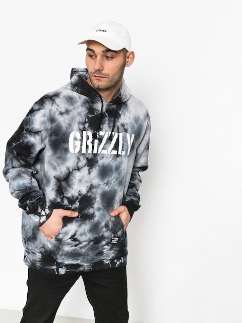 Grizzly Griptape Storm Front Tie-Dye HD Hoodie (black)