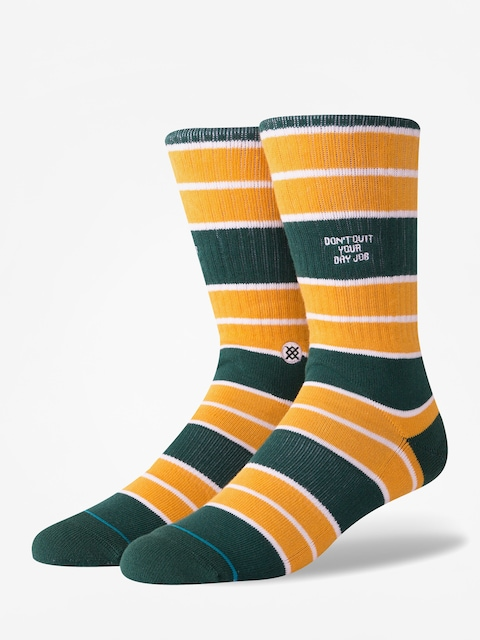 Stance Dont Quit Socks (green)