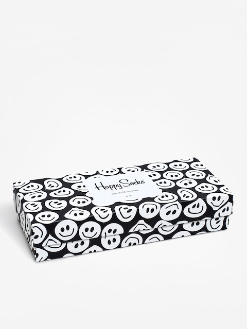 Happy Socks Giftbox 4Pak Socks (black/white)