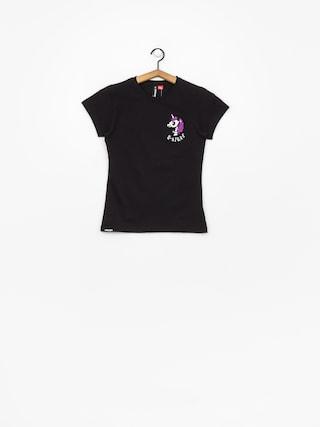 Stoprocent Unicorn T-shirt Wmn (black)