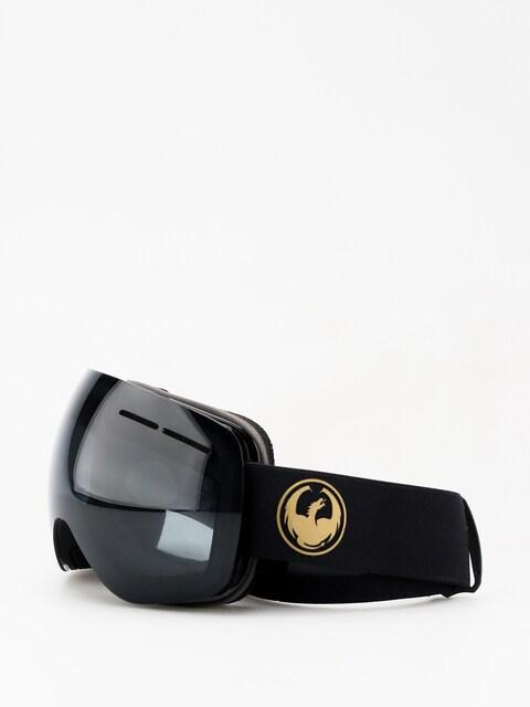 Dragon X1s Goggles (gold/darksmoke/lumalens flash blue)