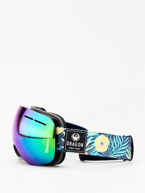 Dragon X1s Goggles (aloha/lumalens green ion/dark smoke)