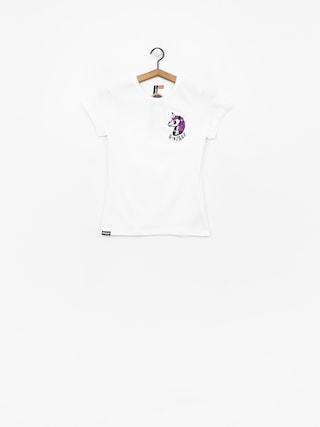 Stoprocent Unicorn T-shirt Wmn (white)