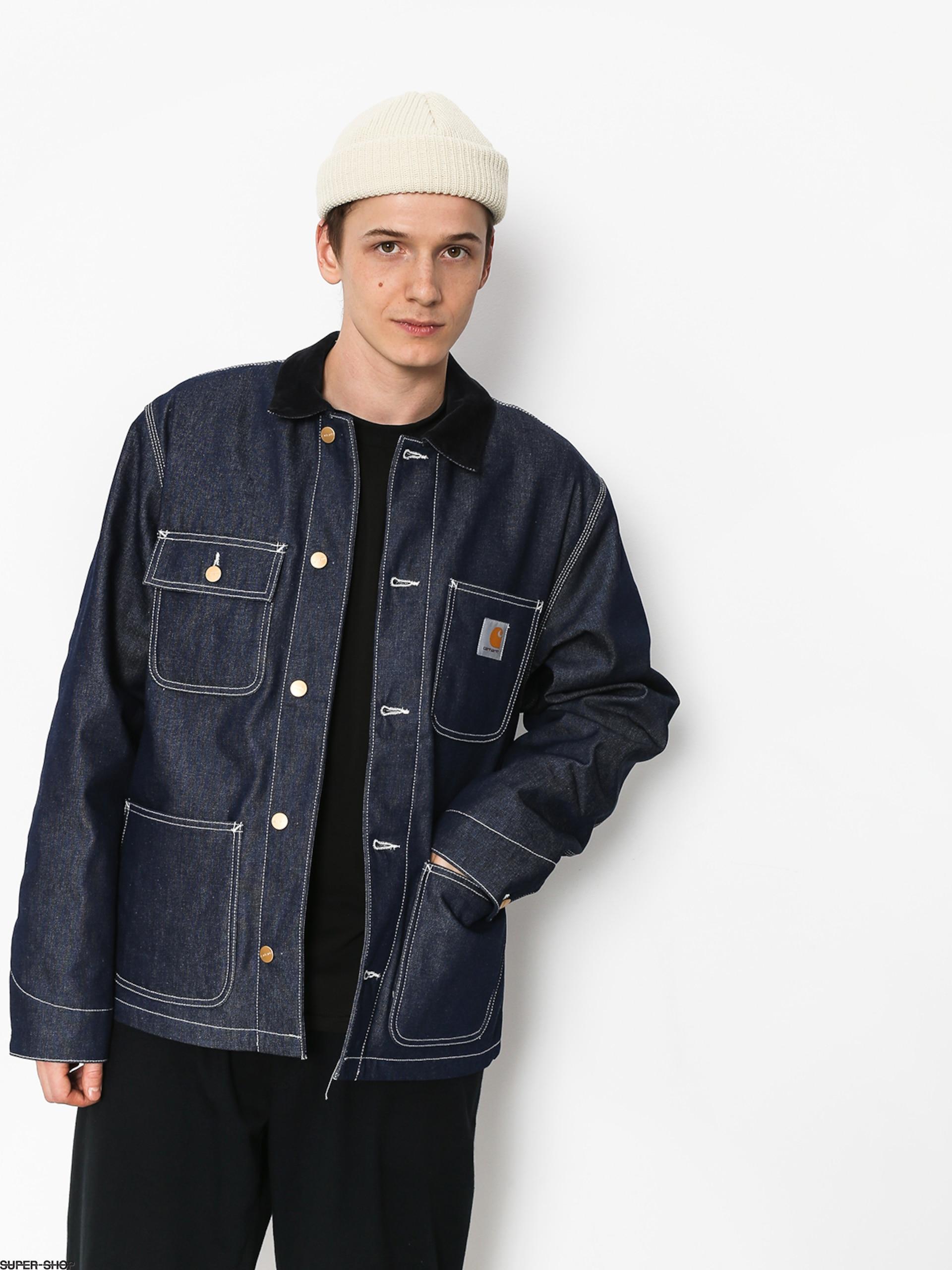 6691fd507fb Carhartt WIP Michigan Chore Coat Jacket (blue rigid)