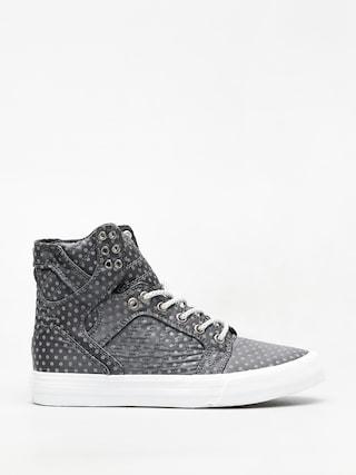 Supra Skytop Shoes Wmn (dark grey polka dot white)