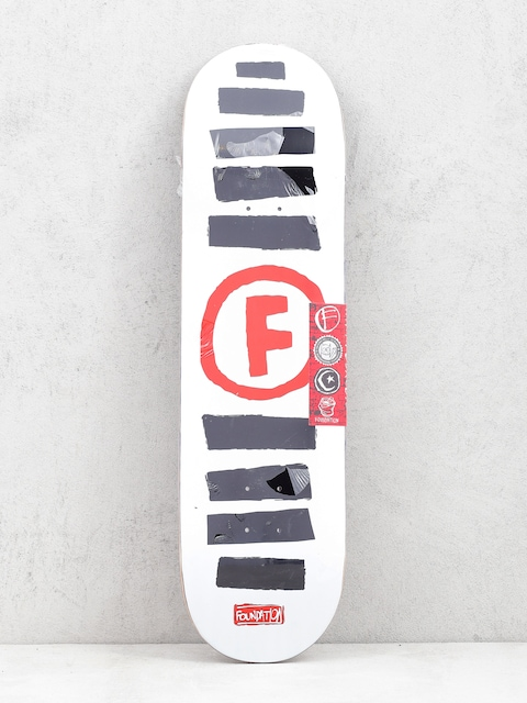 Foundation Doodle Stripe Deck (white)