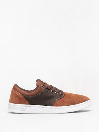 Supra Chino Court Shoes (brown/demitasse white)
