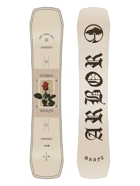 Arbor Snowboard Draft (white/black)